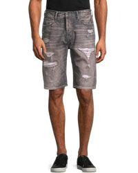 PRPS Men's Butler Straight-leg Shorts - Grey - Size 34