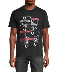 True Religion Men's Buddha Graphic T-shirt - Heather Grey - Size S