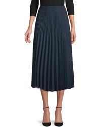 Max Studio Pleated Skirt - Blue