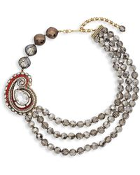 Heidi Daus Paisley Draped Collar Necklace - Multicolour