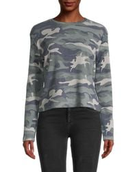 Pure Navy Camouflage-print Cotton-blend Jumper - Grey