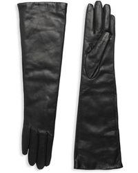 Portolano Slip-on Leather Gloves - Black