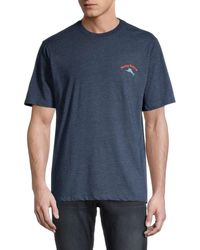 Tommy Bahama Men's One That Yacht Away Graphic T-shirt - Navy Heather - Size L - Blue
