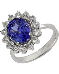 Effy Diamond, Tanzanite And 14k White Gold Ring, 0.96 Tcw - Multicolor