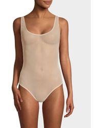 Cosabella - Soire Sleeveless Mesh Thong Bodysuit - Lyst
