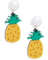 Natasha Couture - Faux Pearl Bead Pineapple Earrings - Lyst