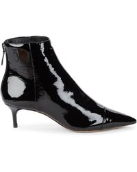 Alexandre Birman Leather Kittie Booties - Black