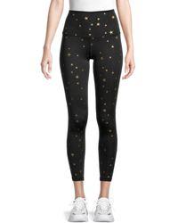 Chrldr Women's High-waist Allover Star Leggings - Black - Size M