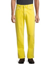 Helmut Lang Mid-rise Colored Jeans - Yellow