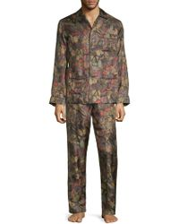 Valentino - Two-piece Printed Silk Pajama Set - Lyst