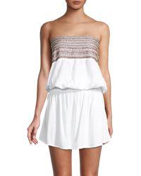 Tiare Hawaii Embellished Strapless Mini Dress - White
