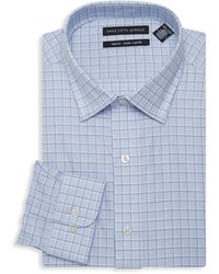 Saks Fifth Avenue - Trim-fit Checkered Dress Shirt - Lyst