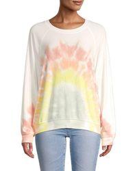 Wildfox - Women's Rainbow Tie-dyed Sweatshirt - Rainbow Tie Dye - Size Xl - Lyst