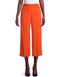 Theory Women's Wide-leg Cropped Trousers - Fire - Size 00 - Orange