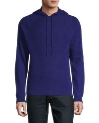Saks Fifth Avenue Cashmere Hoodie - Blue