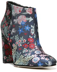 Sam Edelman - Cambell Floral Brocade Booties - Lyst