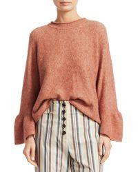 3.1 Phillip Lim Alpaca & Wool Blend Ruffle Cuff Sweater - Natural