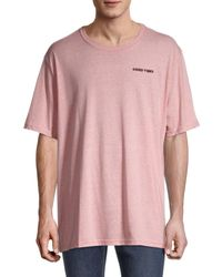 Threads For Thought Good Vibes Embroidered T-shirt - Pink