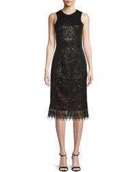 Dress the Population - Alina Lace Knee-length Dress - Lyst