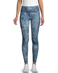 X By Gottex Women's Core Print Leggings - Raspberry - Size Xs - Blue