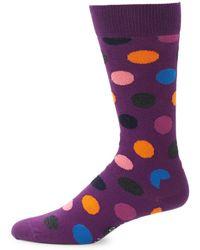 Happy Socks - Polka Dot Crew Socks - Lyst