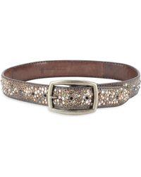 Frye - Deborah Embellished Leather Belt - Lyst