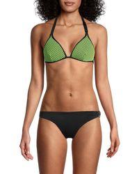 Love Moschino Fantasia Triangle Bikini Top - Green