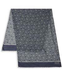 Armani - Geometric-print Scarf - Lyst
