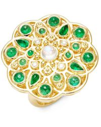 Temple St. Clair - Cl Colour 18k Yellow Gold Mosaic Statement Ring - Lyst
