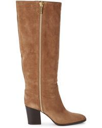 Sergio Rossi Knee-high Suede Boots - Brown