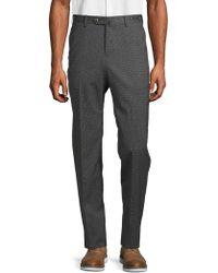 PT01 Flat-front Wool Blend Pants - Gray