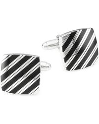 Saks Fifth Avenue - Striped Square Cufflinks - Lyst