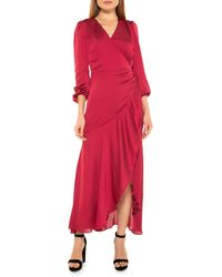 Alexia Admor Maxi Wrap Dress - Red