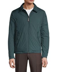 Canali Point Collar Puff Jacket - Green