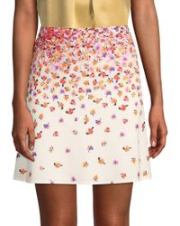 Robert Graham Rachael Floral Skirt - White
