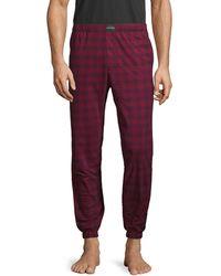 Calvin Klein Plaid-print Pyjama Pants - Red