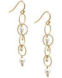 Chan Luu - Multi-stone & Sterling Silver Chain Earrings - Lyst