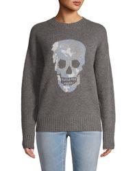 360cashmere Skull Cashmere Jumper - Grey