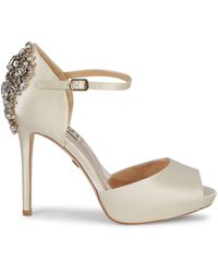 Badgley Mischka Dawn Embellished Satin Ankle-strap Pumps - Multicolour