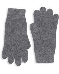Portolano Men's Ribbed Trim Knit Gloves - Black
