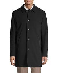 Saks Fifth Avenue Reversible Top Coat - Black