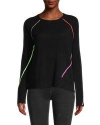 Lisa Todd In A Pop Wool-blend Jumper - Black