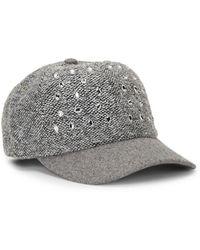 San Diego Hat Company Boucle Beweled Baseball Cap - Gray