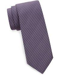 Brioni - Abstract Geometric Silk Tie - Lyst