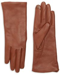Saks Fifth Avenue Metisse Cashmere-lined Leather Gloves - Brown