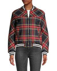 Maje Women's Blouson Jacket - Black Red - Size 40 (l) - Multicolor