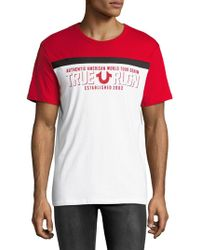 True Religion - ??otton Graphic Tee Shirt - Lyst