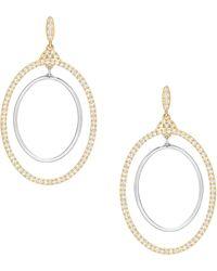 Swarovski Gilberte Crystal Hoop Pierced Earrings - Metallic