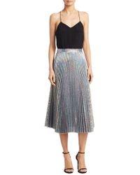 DELFI Collective - Clara Metallic Pleated Skirt - Lyst