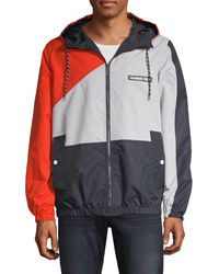 Ming Wang Knit Jacket Small Large Red ColorBlock Career NWT $350